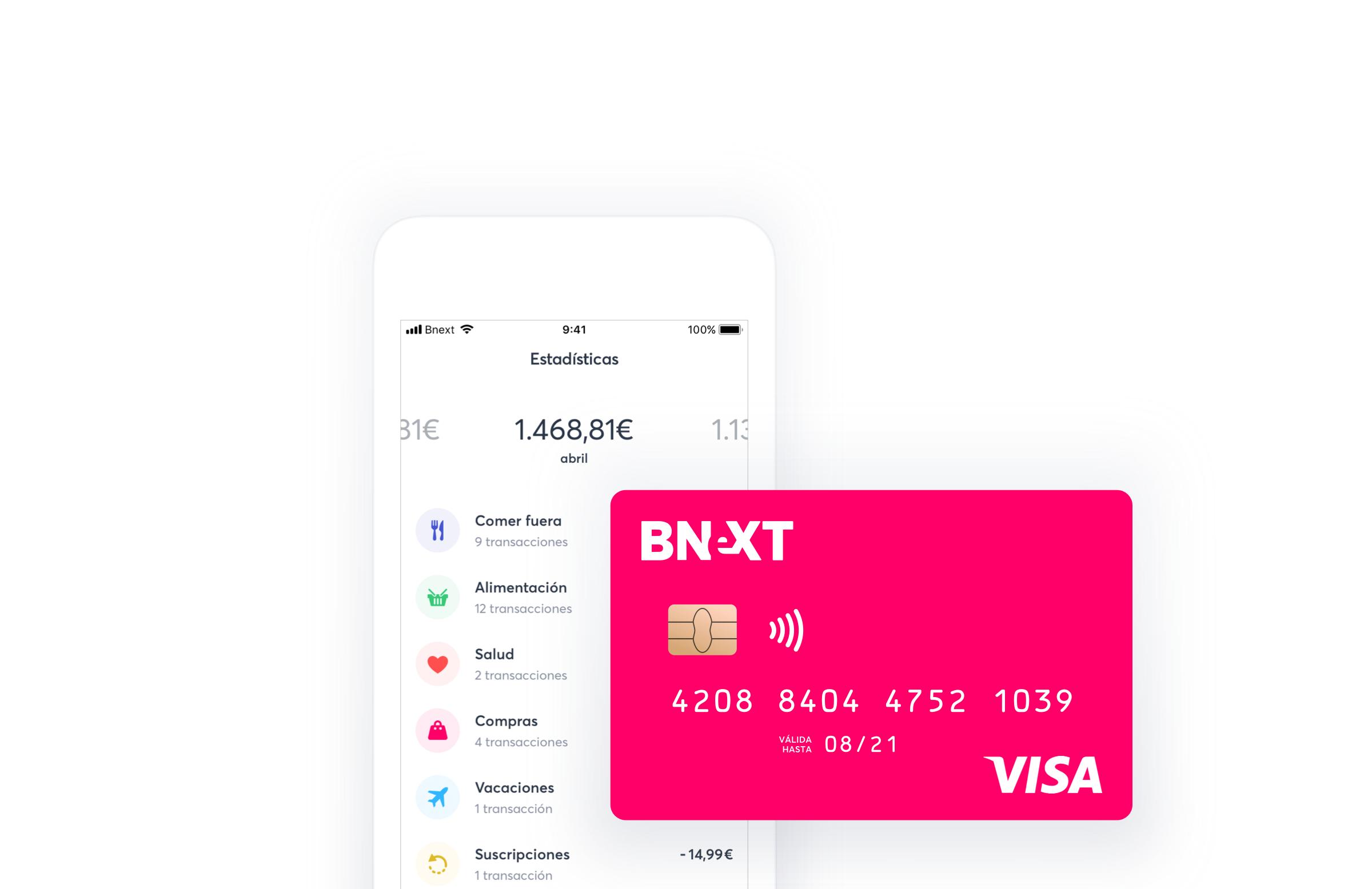 Cómo son las tarjetas de Bnext